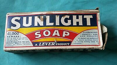circa 1920s Sunlight Soap A Lever Product Original Box Vintage Store Display