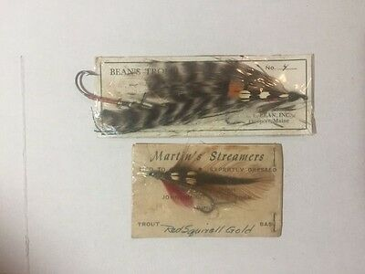 Vintage Tackle~Beans Trolling~Fly~Fishing~Lure~Orginal Card~Ex+