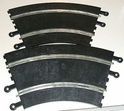 1960s British Triang Scalextric Slot Car Curved Track PT 51 - 2 Pieces of 6 Left