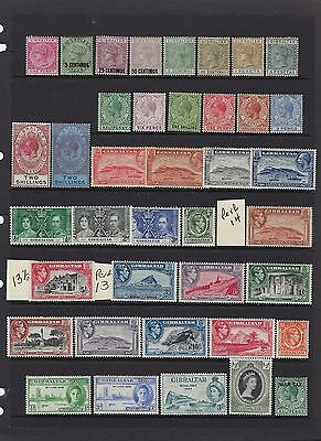 Gibraltar Quality Collection 200+Stamps/souvenir Sheets 1886-1981- Mint Lh-Nh