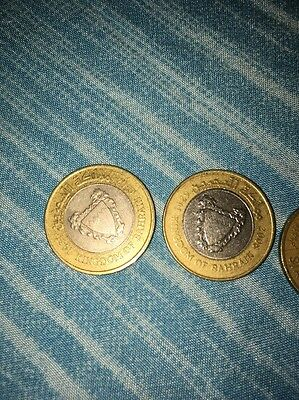 Kingdom Of Bahrain 100 Fils 5 Lot
