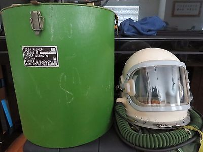 Rare SOVIET Flight Pilot Helmet 4 Air Force Space Suit RUSSIAN MIG GSH-6 Aviator