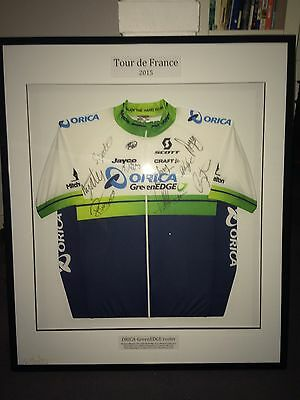 Signed & Framed Orica GreenEDGE 2015 Tour De France Jersey