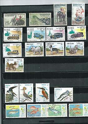Laos. Selection Of 21. Very Fine  Used  As Per Scan
