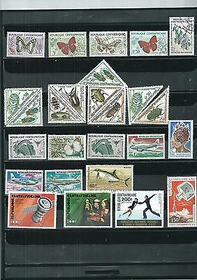 Central Africa.1960-1977 Selection Of 26. Mint/ Cancelled To Order.  As Per Scan
