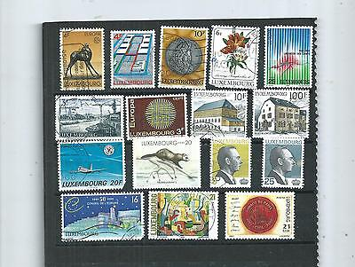 Luxembourg.  Selection Of 16 . Fine Used.  As Per Scan