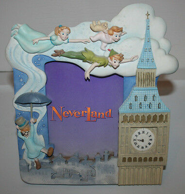 """Disney Neverland """"Follow Your Dreams"""" Musical 3D Picture Frame Peter Pan Wendy"""