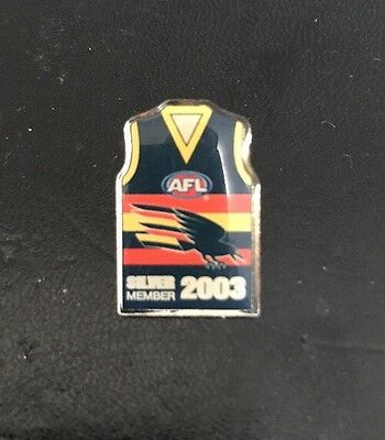 ADELAIDE CROWS SILVER MEMBER 2003 AFL Pin Badge Collectable