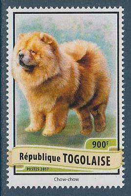 Chow Chow Dogs Togo MNH stamp 2017