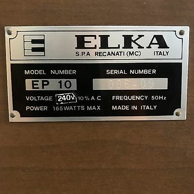Electric organ, Elka brand, model EP10