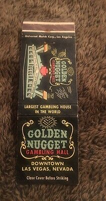 Vintage Matchbook Cover Matchcover Golden Nugget Las Vegas NV