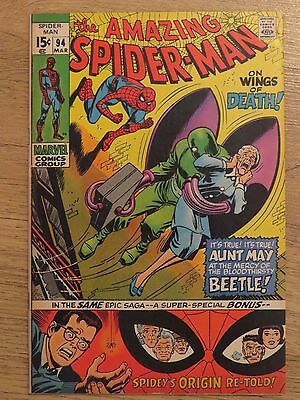 Amazing Spider-Man #94 - Marvel Bronze Age comic  - Cents issue - VFN