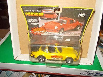 New Bright Battery Operated 'SPEED DEMONS' PORSCHE TURBO 911 Bump-n-Go 1/24