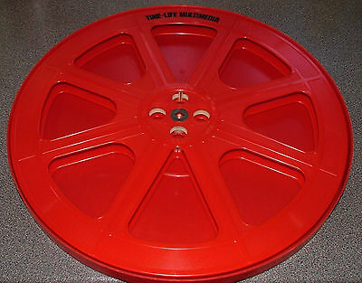 16mm 2200ft FILM SPOOL REEL IN GOOD CONDITION + CAN