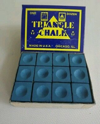 12 pieces blocks of genuine blue triangle chalk (tweetens) professionals use