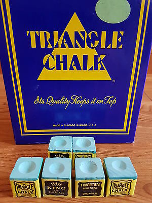 6 pieces blocks of genuine green triangle chalk (tweetens)usa king of them all