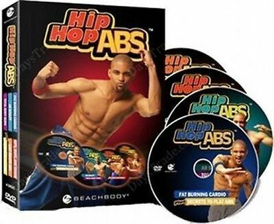 NEW Brand NEW Free shipping HIP HOP ABS Level 1-2- 6 DVD SET 2cards SEALED