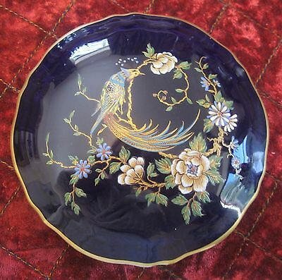 Limoges cobalt blue ,glided . Covered bowl .Stunning