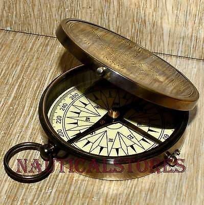 Brass Nautical Antique Vintage Style Pocket London Compass