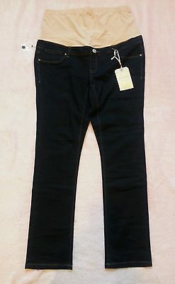 BNWT Jeans West Forever Indigo Skinny Maternity Jeans with Belly Band sz 14