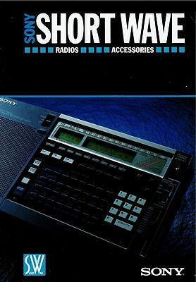 Sony Icf-2001D (And Others) Short Wave Radio Brochure