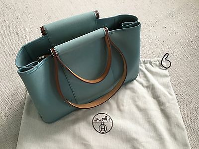 Authentic HERMES CABAG BLUE PM IN EXCELLENT CONDITION