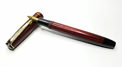 Vintage Merlin  Fountain Pen 14K Gold Nib - Burgundy. 4.5 Inches Overal