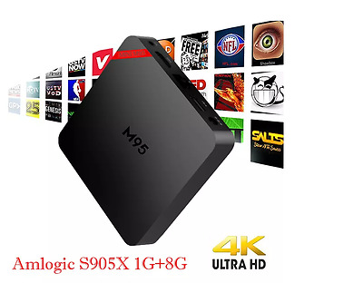 M95 H2 Quad-core Android 6.0 Smart TV Box 4K Ultra HD IPTV TV Kodi Fully Setup