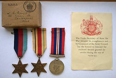 WW2 medals to Royal Artillery Prisoner of War - 2nd World War Two