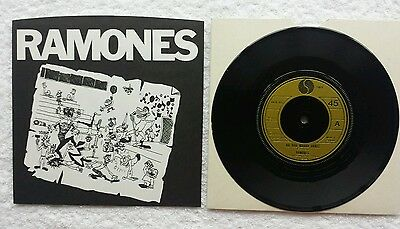 "The Ramones Do You Wanna Dance Uk 3 Track 7"" Vinyl In Near Mint Condition"