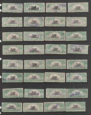 COLLECTION WESTERN AUSTRALIA 1Sh X 32  SWANS  DUTY REVENUES AUSTRALIA STATES
