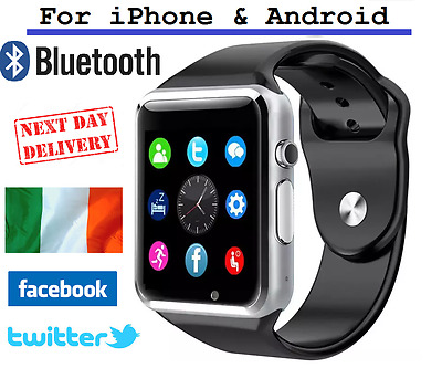 A1 Bluetooth Smart Watch NFC Wrist Phone Mate For iPhone Andorid Irish Stock
