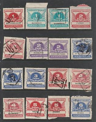 New South Wales Railway Parcel Stamps Decimal Duty Revenues Australia States