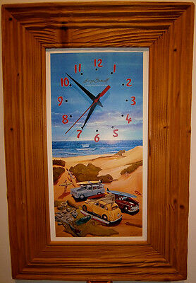 Signed limited edition Garry Birdsall 60's surfing clock no 48 out of 900