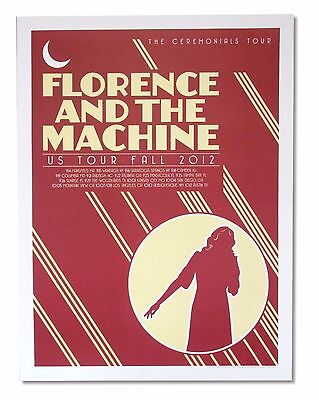 Florence and the Machine US Fall 2012 Tour Litho Wall Poster New Official Merch