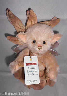 Charlie Bears CUCKOO the Pixie Minimo ~ 2017 Isabelle Lee Mohair Limited Edition