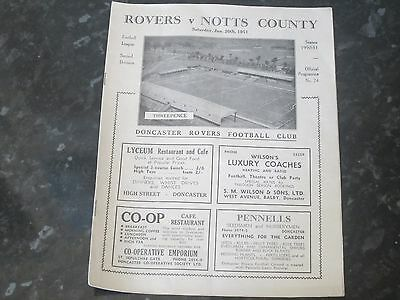 Doncaster Rovers v Notts County Div 2 - 1950/51