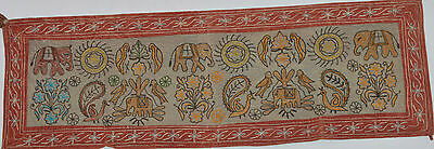 Handmade Cotton Wall Hanging Ethnic Embroidered Home Decor Tapestry