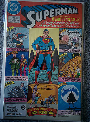 Superman - The Historic Last Issue #423 1986 Alan Moore,Curt Swan & George Perez