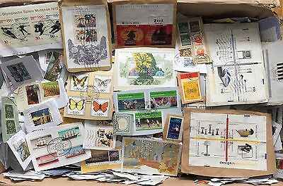 !!! Deutschland Kiloware 10 Kg Kilo Germany Stamps On Paper !!!