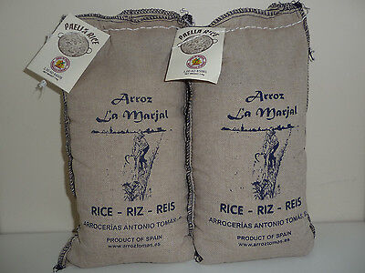2x1kg ARROZ La Marjal. Authentic Spanish Paella Rice. Product of Spain