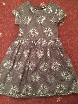 Girls stunning  NEXT  party/best dress 9 years with silver pattern