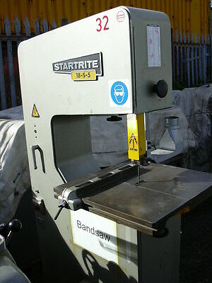 """Startrite 18-S-5 wood cutting bandsaw, 18"""" throat, cast iron table"""