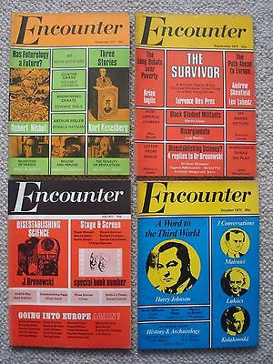 Encounter Magazine - Four Copies From 1971.  Free P&P