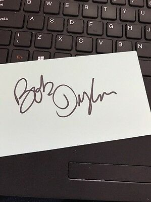 Bob Dylan Hand Signed Card Autograph - Musician / Singer