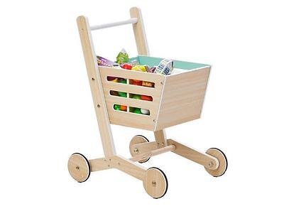Toy Shopping Trolley  Pretend Kids Cart Play Mini Supermarket Food Grocery Game