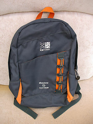 Karrimor Shadow small 10 litre Camping Walking Rucksack Backpack Charcoal Orange