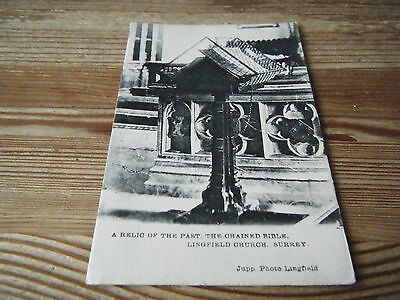 Early  Jupp Of Lingfield Card -  The Chained Bible - Lingfield Church - Surrey