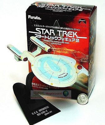 Furuta Star Trek 2 USS Enterprise NCC-1701-C Spaceship Display Model ST2_13+B