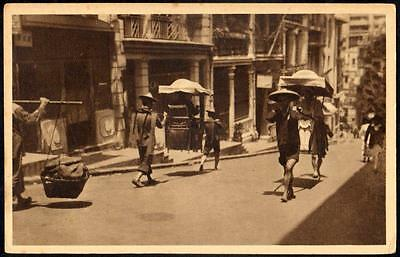 Hong Kong Vintage Postcard - Chinese Carrying Chairs